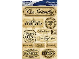 """Signature Dimensional Stickers 4.5""""X6"""" Sheet-Family"""