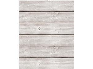 Hampton Art JBP1005 18 x 24 in. Soup Mix The Media Wooden Plank, Weathered White