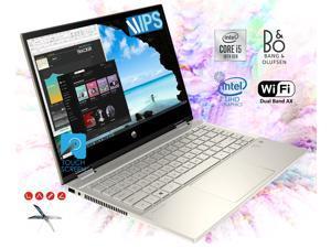 "HP Pavilion x360 14"" FHD Touchscreen 2-in-1 Convertible Laptop, Intel Core i5-1035G1 upto 3.6GHz, 16GB DDR4, 256GB NVMe M.2 SSD, WiFi AX, Bluetooth, Webcam, HDMI, Fingerprint Reader - Windows 10 Pro"