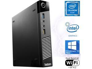 Lenovo ThinkCentre M73P Tiny Desktop, Intel Dual Core 2.6GHz, 4GB RAM, 500GB HDD, 4K 2-Monitor Support, DisplayPort, HDMI, VGA, AC Wi-Fi, BT, Windows 10 Pro