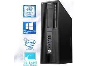 HP Z240 Workstation SFF Desktop PC, Intel Core i7-6700 Upto 4.0GHz, 32GB RAM, 512GB SSD + 500GB HDD, AMD Radeon R7 350X 4GB 4K, DisplayPort, HDMI, Wi-Fi, Bluetooth- Windows 10 Pro