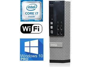 Dell Optiplex i7 9010 SFF Desktop, Intel Quad-Core upto 3.9GHz, 32GB DDR3, 512GB SSD, Intel HD Graphics  4K 3-Monitor Support(2x DP 1 x VGA) WIFI, BT 4.0, USB 3.0, DVD-RW, Windows 10 Pro