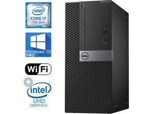 Dell Optiplex 7040 Tower, i7-6700 Quad Core upto4.2 Ghz, 1TB SSD, 16GB RAM, 4K UHD 3-Monitor Support, 2x Display Port, HDMI, DVDRW, Windows 10 Pro, WiFi