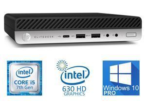 HP EliteDesk 800 G3 Mini PC, Intel Core i5-7500T Upto 3.3GHz, 16GB RAM, 256GB SSD, VGA, 2x DisplayPort, Windows 10 Pro