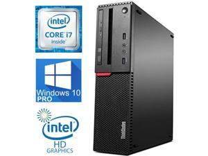 Lenovo ThinkCentre M900 Workstation Desktop, Quad-Core i7 6700 upto 4.0GHz, 32GB DDR4, 1TB SSD, 4K 3-Monitor Support (2x DP 1 x VGA), WIFI, Windows 10 Pro, (RF)