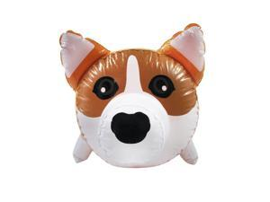"Treasure Gurus 23"" Inflatable Corgi Dog Swimming Pool Water Float Blow Up Toy Pet Novelty Party Favor Decor Prop"