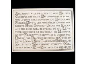 ABCs of Faith Faux Marble Standup or Wall Plaque