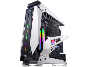 "RAIJINTEK NYX PRO - White, a Open Frame Alu. Case (EE-B M/B), 4mm Tempered Glass, Flip Open Top Panel & Front Panel, max. 496mm VGA Card, max. 2.5""SSD×4, max. 12025 Fanx6, PCI Express Gen3 Riser Card"