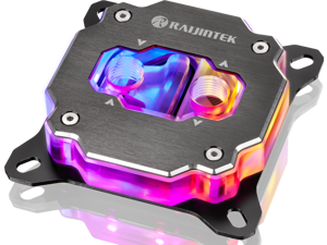 RAIJINTEK FORKIS PRO RBW, a CPU water block with ARGB LED light, made of full copper material, melted by alloying. With adapting 3D micro-fin structure, alloying brazing, Compatible with 5V ADD header