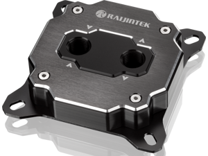 """RAIJINTEK FORKIS ELITE, a CPU water block with ARGB LED light, Full copper material melted by alloying brazing. With adapting 3D micro-fin structure, G1/4"""" thread, Nickel-plated & mirror polishing."""