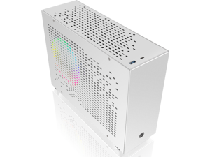 RAIJINTEK OPHION 7L WHITE, super small 7 liter volume, for Mini-ITX M/B, amazing compatibility of max. 3pcs 9225 fans, 2 on top, 1 at bottom., tool-free for easy installation, SFX PSU compatibility