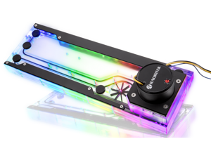 RAIJINTEK ACHERON 360 D5 RBW, a water cooling Distribution-plate PUMP & 5V ARGB LED, High quality PMMA (Crystal clear), Easy mounting and connection in building loop, CPU, GPU, radiator & more DIY