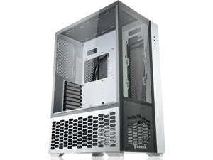 """RAIJINTEK PAEAN PREMIUM WHITE supports ATX M/B, amazing compatibility of max. 12 fans (12025) & 1×14025 fan at the rear. 2×2.5"""" SSD or 2×2.5"""" HDD or 2×3.5"""" HDD, 430mm VGA card, Type C×1 + USB3.0×2."""