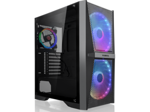 RAIJINTEK SILENOS MS PRO, ATX Tower with Mesh at Front and Tempered Glass (4.0mm) side panel, Comes with Pre-installed 2pcs 200mm ARGB Fans at Front and 1pcs 120mm ARGB fan at Rear.