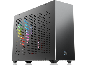 RAIJINTEK OPHION 7L BLACK, super small 7 liter volume, for Mini-ITX M/B, amazing compatibility of max. 3pcs 9225 fans, 2 on top, 1 at bottom., tool-free for easy installation, SFX PSU compatibility