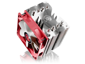 RAIJINTEK THEMIS EVO, 4pcs 8mm Heat-Pipe, 12025 PWM Fan, Fully Nickel Plating, Option to Install Dual Fans, Multiple Mounting Kits for Intel & AMD - Silver