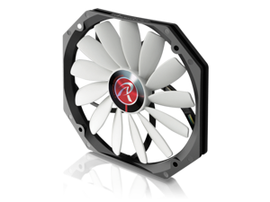 RAIJINTEK Aeolus a-BW, 140mm x 13mm, 4Pin PWM Function, PC Case Fan, Cooling System Fan