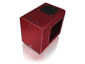 RAIJINTEK METIS PLUS RED, a Alu. M-ITX Case, USB 3.0* 2, Compatible with Standard ATX Power Supply, 170mm VGA Card Length, 160mm CPU Cooler Height, 12025 White LED Fan Installed, ventilate hole on top