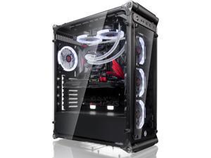 Raijintek Coeus Evo TC E-ATX Gaming Case with Tempered Glass and 4*12025 LED Fans