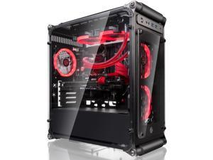 COEUS ELITE Micro-ATX Gaming Case with Tempered Glass and 1* 12025LED Fan
