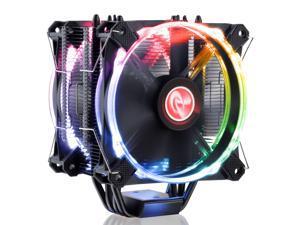 RAIJINTEK LETO PRO RGB CPU Cooler with 2pcs Performing 120mm RGB PWM Fan