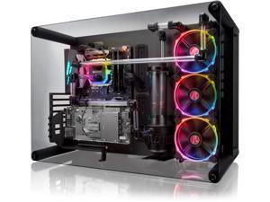 RAIJINTEK PAEAN, Aluminum Dual Chamber Open Frame/Bench Table ATX Case, Supports SLI CROSS FIRE VGA Card, Max. 200mm Length ATX/EPS PSU, 6 HDD's / SSD', 5mm Dual Tempered Glass, 4 × USB3.0, 8 x PCI Sl