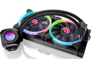 RAIJINTEK ORCUS 280 RBW AIO Water Cooling, with Addressable LED Fans, Addressable LED Tank, 8-port Control Hub and Remote Controller