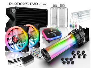 PHORCYS EVO CD240, a full Water Cooling Kit, including  copper water block, 65mm copper 240 radiator, D5 level pump, is a top premium quality water cooling total solution for gaming PC and enthusiasm