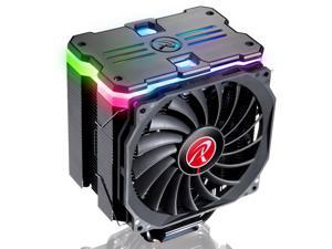 MYA RBW, CPU cooler with Addressable LED panel, 6*6mm heat-pipe, 12013 PWM fan, Innovation Fin Design for Max. Efficiency and Heat Dissipation, and multiple mounting kits, MYA RBW is your best choice