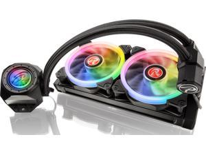 RAIJINTEK ORCUS 240 RBW AIO Water CPU Cooler, with 12025 Addressable RGB PWM Fans, Addressable RGB Tank, 8-port Control Hub and Remote Controller, Compatible with Intel & AMD Modern Socket CPU