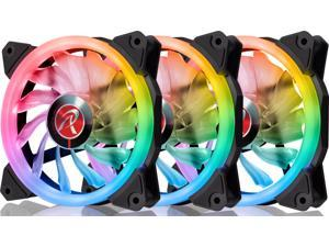 IRIS 12 RBW ADD-3, Addressable RGB - 3pack, 12025 PWM fan, with 8port control hub, Remote controller & Connecting M/B cable, compatible with ASUS/MSI 5V ADD header