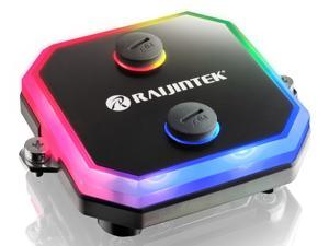 RAIJINTEK CPU water block with ARGB LED light, CWB-RGB, made of full copper material, melted by alloying. With adapting 3D micro-fin structure and alloying brazing, With control hub & ARGB LED