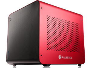 METIS EVO RED ALS, an Alu. ITX case with solid panel, is designed to fulfill the smallest case built with ultra high air flow to solve all thermal issue of SFF chassis, 200mm fan option at front.