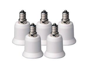 New 5-Pack E12 to E26 E27 Adapter-Converts Chandelier Socket to Medium Socket