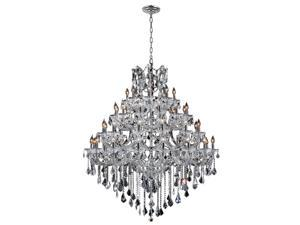 Maria Theresa Collection 49 light Chrome Finish and Clear Crystal Chandelier Four 4 Tier