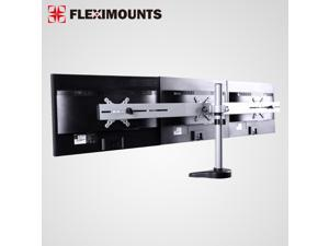 FLEXIMOUNTS M15 Triple LCD Monitor Stand Desk Mount for 10''-27'' Samsung/Dell/Asus/Acer/HP/AOC LCD Computer Monitor (Triple Monitor Stand)