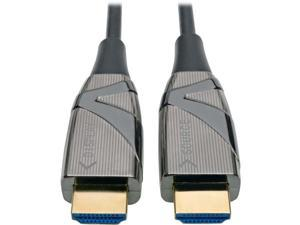 Tripp Lite Fiber Optic HDMI 2.0 (Active HDMI Cable), High Speed HDMI Cable, 4K, 60Hz, 4:4:4, 18 Gbps, 20 m. (65 ft.) Black (P568-20M-FBR)