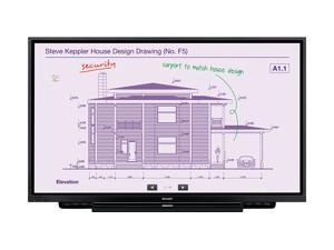 "Sharp PN-L651H 65"" Aquos Board 4K Ultra-HD Interactive Display System"