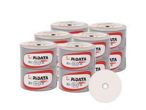 Ridata DVD-R 16X 4.7GB 120 Min White Top Blank Data Video Media Recordable Disc (600 Pack)