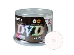 Ridata DVD+R DL Dual Layer 8X 8.5GB DVD Plus R Double Layer White Inkjet Hub Printable Blank Media Data Movie Game Recordable Disc (50 Pack)
