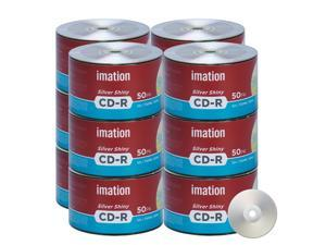 Imation CD-R 52X 700MB/80Min Silver Shiny Blank Media Recordable Data Disc (600 Pack)