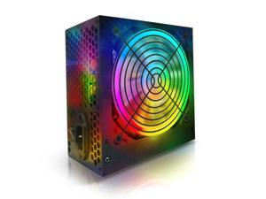 Smartbuy 1000W 1000 WATT RGB LED Fan Silent PC ATX Power Supply PSU SATA 12V PCI-E