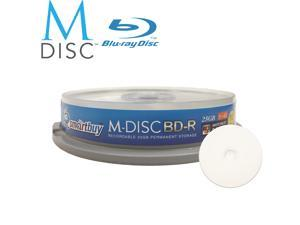 Smartbuy M-Disc BD-R 25GB 4X HD White Inkjet Printable Recordable Disc (10 Packs)