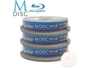 Smartbuy M-Disc BD-R 25GB 4X HD White Inkjet Printable Recordable Disc (30 Packs)