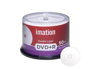 Imation DVD+R DL Dual Layer 8X 8.5GB DVD Plus R Double Layer White Inkjet Hub Printable Blank Media Data Movie Game Recordable Disc (50 Pack)