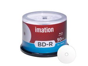 Imation BD-R 6X 25GB Blu-ray White Inkjet Hub Printable Blank Media Data Movie Game Recordable Disc (50 Pack)