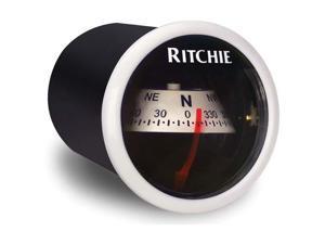 Ritchie X-21WW Compass - Dash Mount - White/Black