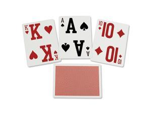 Elite Low Vision Playing Cards-Red-Single Deck