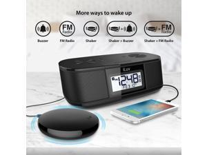 TimeShaker Super Black BT Enabled FM Stereo Clock Radio