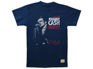 cb10f818ac118c Johnny Cash Men s Newport 1964 Vintage T-shirt ...